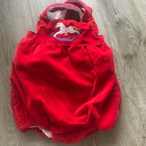 Mini boden velour body suit (6-12m)